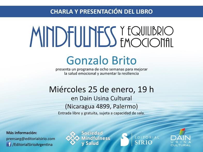 Buenos Aires - Presentación del libro Mindfulness y Equilibrio Emocional @ Daín Usina Cultural