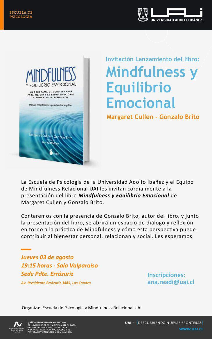Santiago - Presentación del libro Mindfulness y Equilibrio Emocional @ Universidad Adolfo Ibáñez