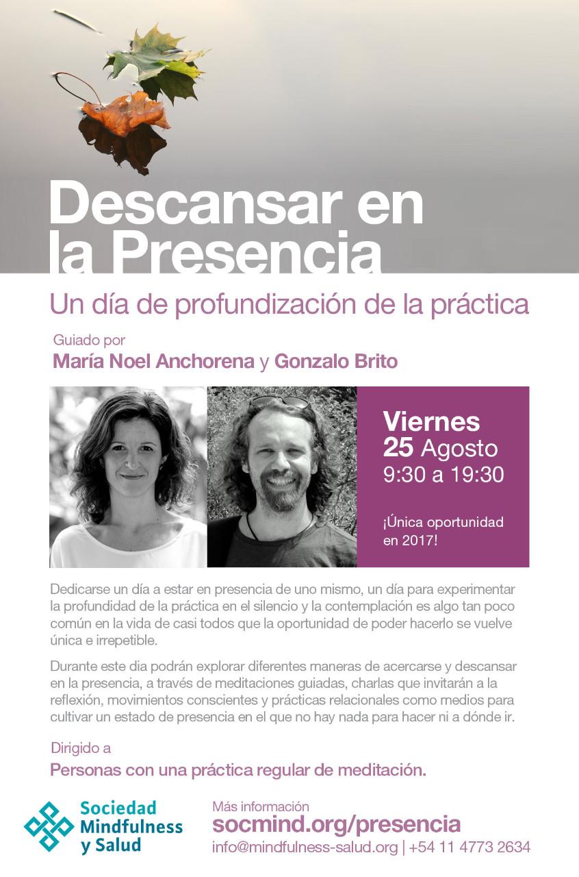 Buenos Aires - Descansar en la Presencia: un día de práctica @ Sociedad Mindfulness y Salud