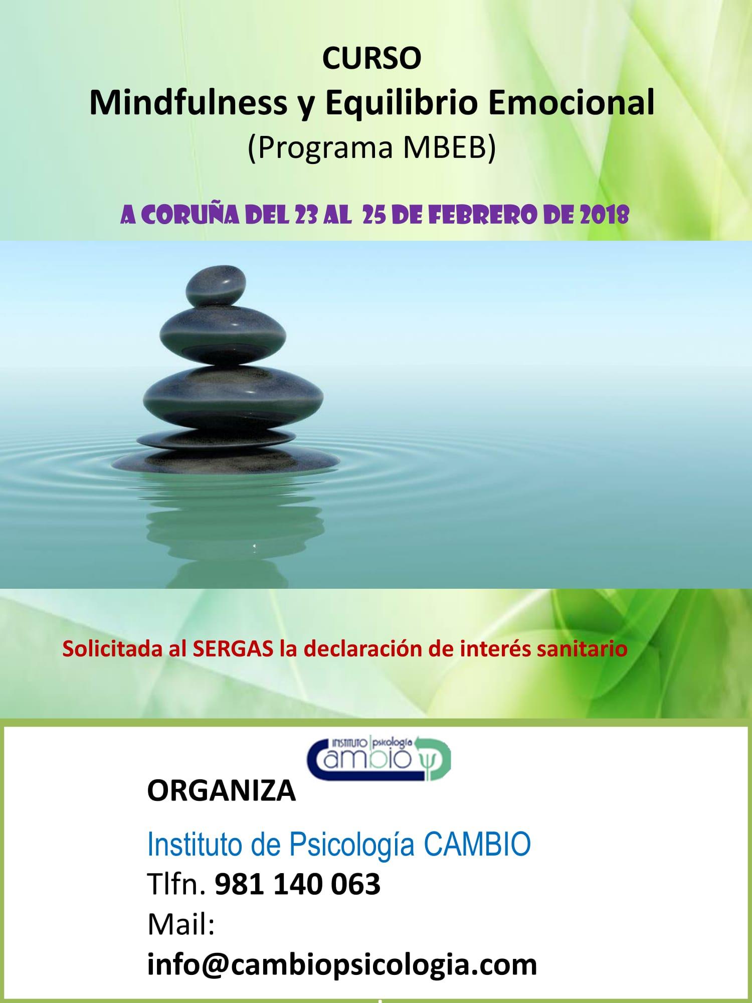 A Coruña - Programa Mindfulness y Equilibrio Emocional (Intensivo) @ Instituto de Psicología CAmbio