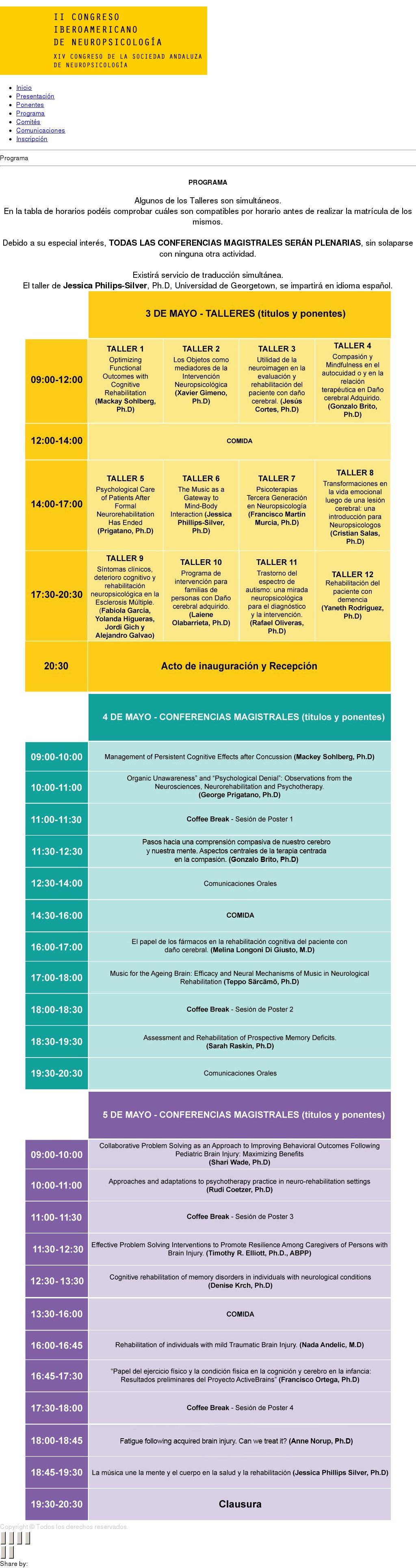 II Congreso Iberoamericano de Neuropsicología (Almería)