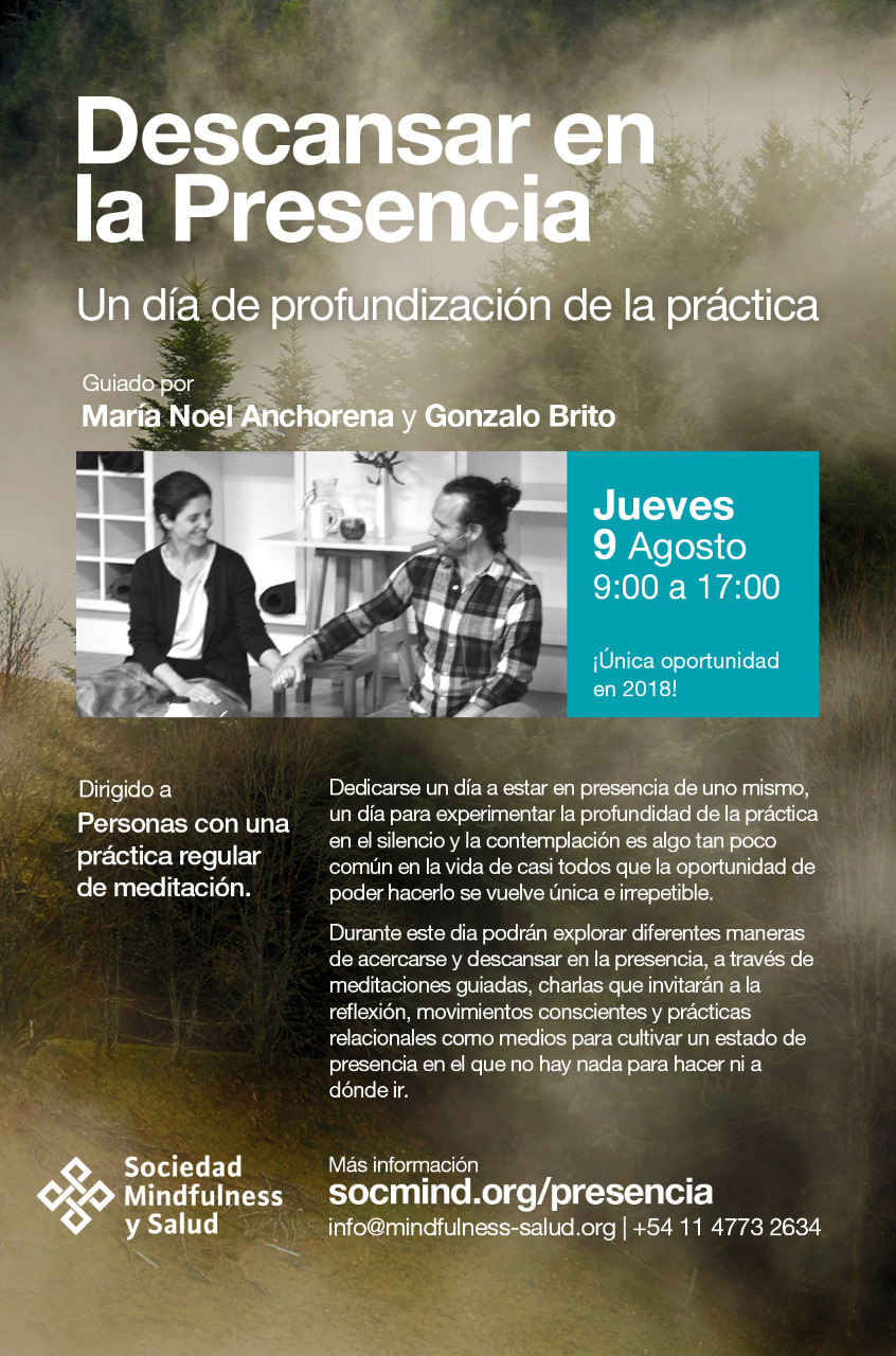Buenos Aires - Descansar en la Presencia @ Soeciedad Mindfulness y Salud
