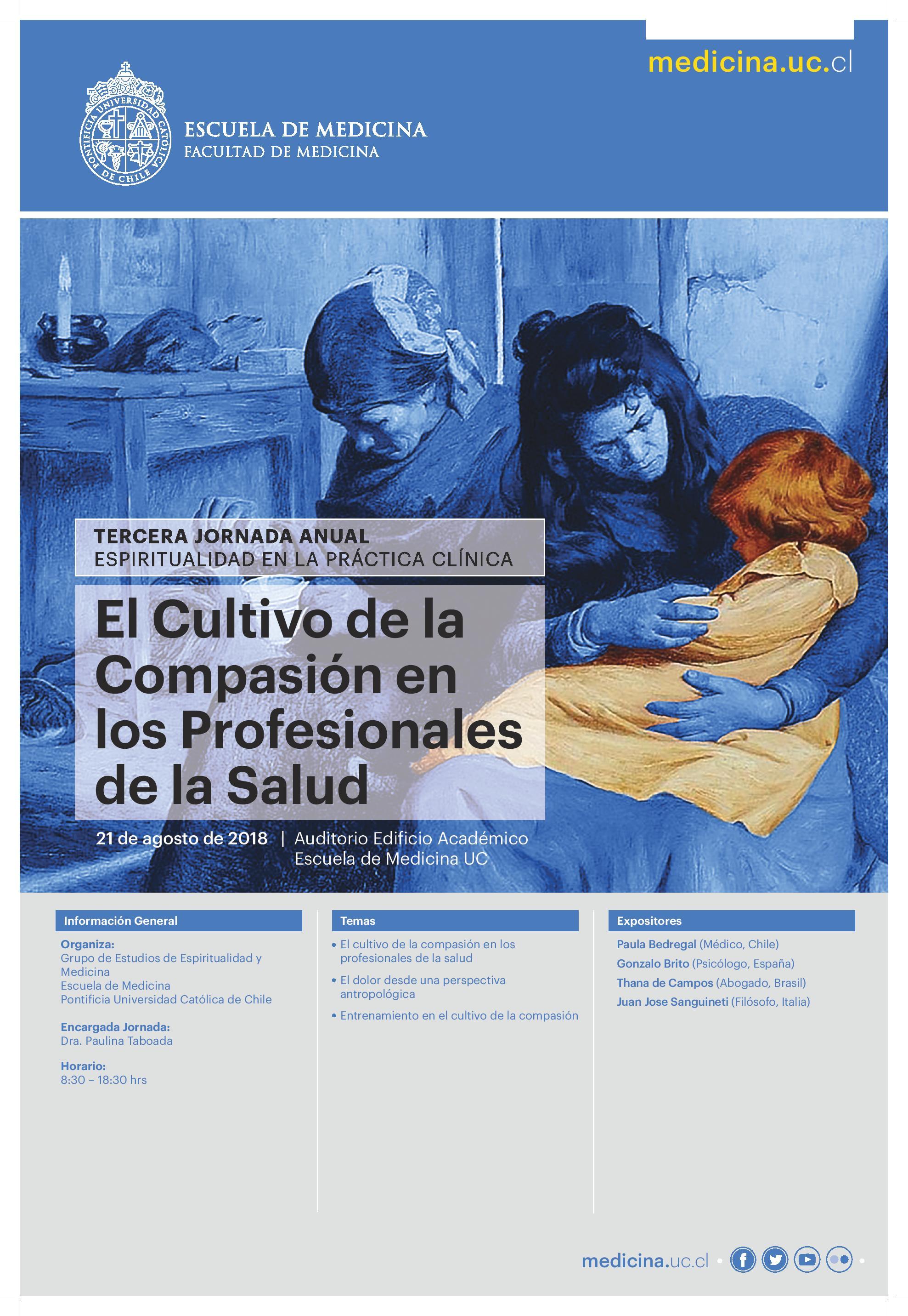 Santiago - Espiritualidad en la Práctica Clínica @ Auditorio Edificio Académico, Escuela de Medicina UC