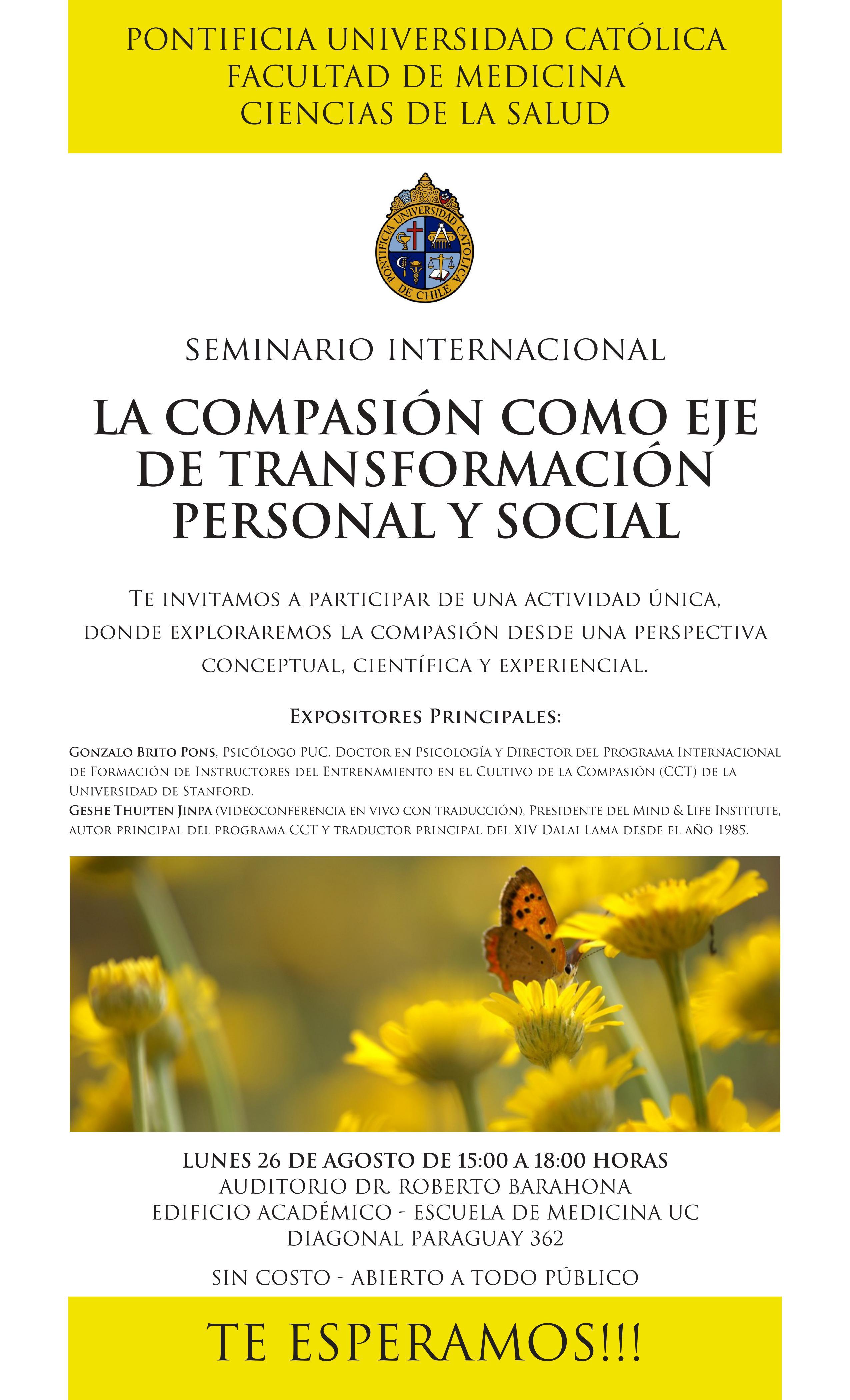 Santiago - PUC - La Compasión como eje de transformación personal y social @ Casa Central Universidad Católica